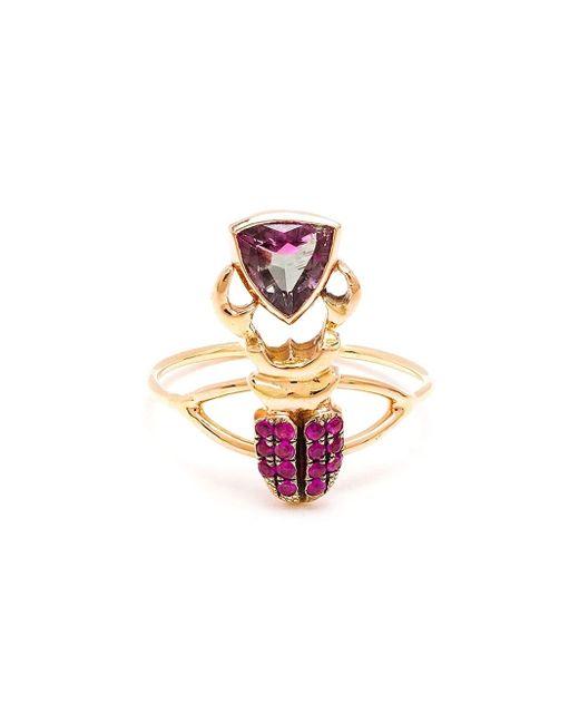 Daniela Villegas | Metallic Kephri 18k Gold, Sapphire And Tourmaline Ring | Lyst