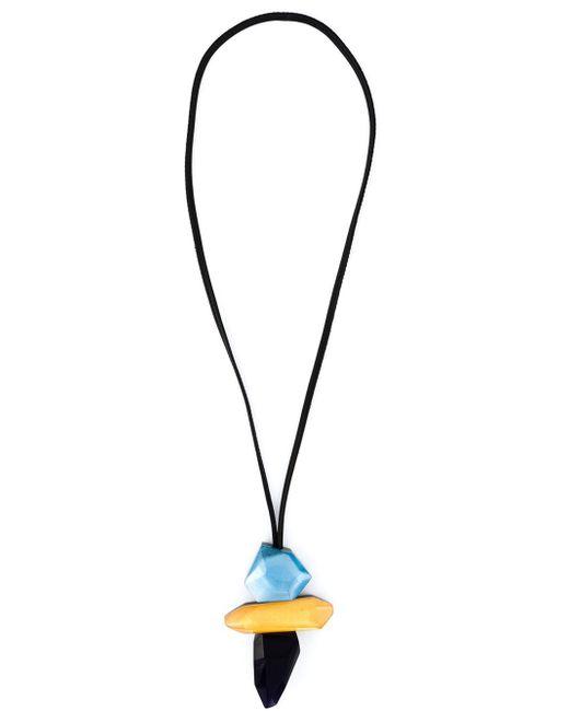 Monies | Black Chunky Resin Pendant Necklace | Lyst