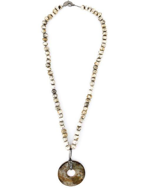 Loree Rodkin   Metallic Diamond Stone Disc Lariat Necklace   Lyst