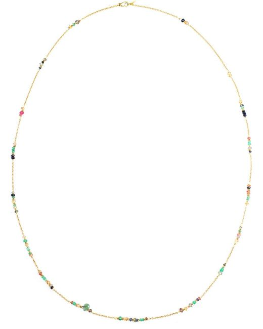 Natasha Collis | Green Emerald, Sapphire & Diamond Beaded Necklace | Lyst