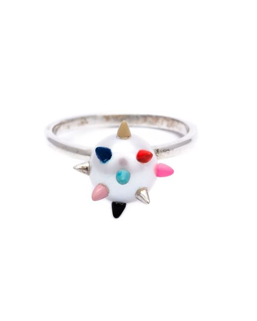 Nektar De Stagni | Metallic Spike Pearl Ring | Lyst