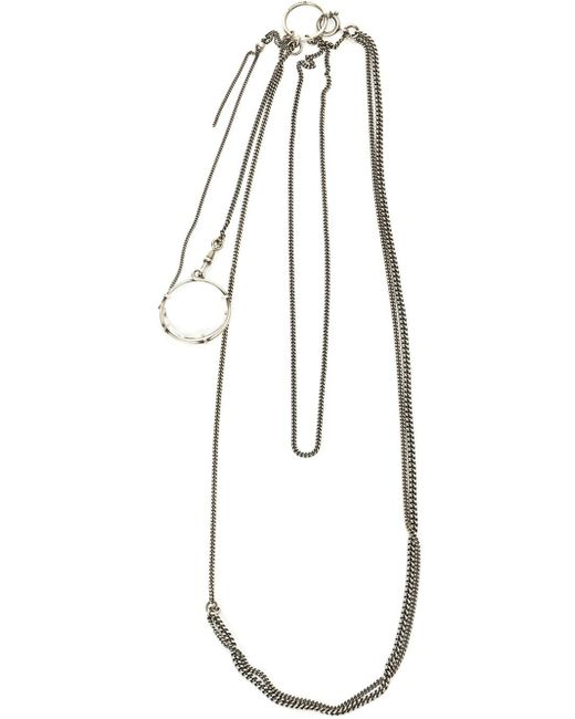 Ann Demeulemeester Blanche | Metallic Glass Lens Pendant Necklace | Lyst