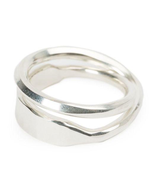 Werkstatt:münchen | Metallic Werkstatt:münchen Curved Double Ring | Lyst