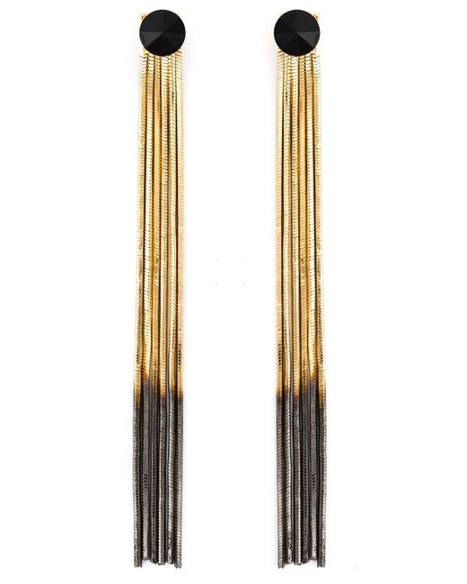 Iosselliani | Metallic 'black Hole Sun' Earrings | Lyst