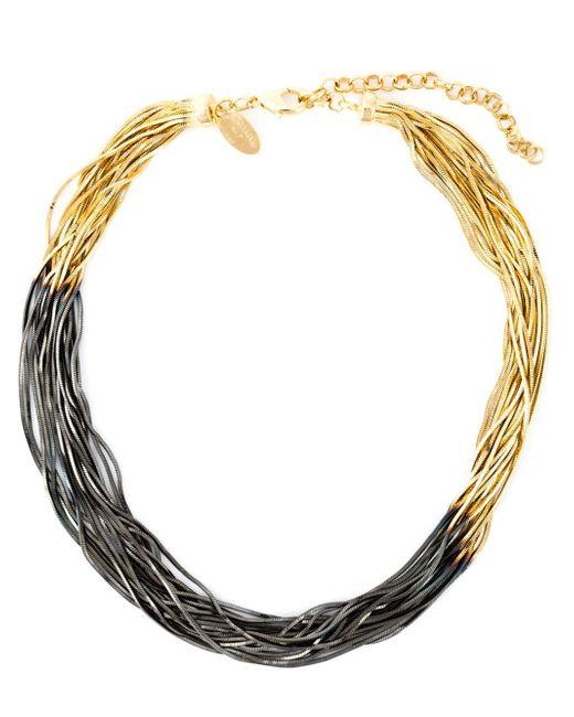 Iosselliani | Blue Graphic Fringe Necklace | Lyst