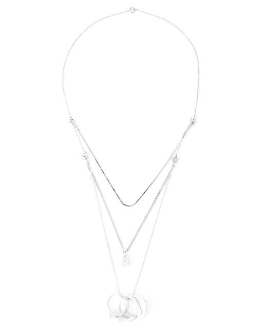 Maison Margiela | Metallic Ring Pendant Necklace | Lyst