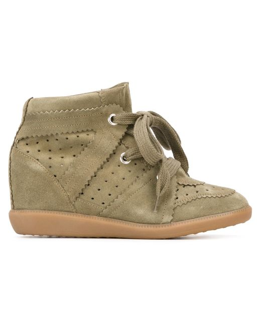 Étoile Isabel Marant | Natural - Étoile 'bobby' Sneakers - Women - Leather/suede/rubber - 36 | Lyst
