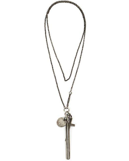 Werkstatt:münchen | Gray Werkstatt:münchen Cross Charm Necklace | Lyst