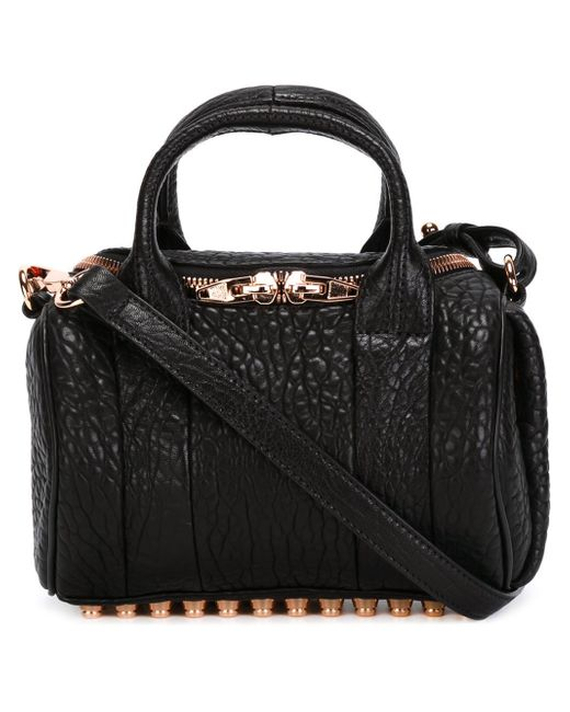Alexander Wang | Black Rockie Textured-leather Tote | Lyst