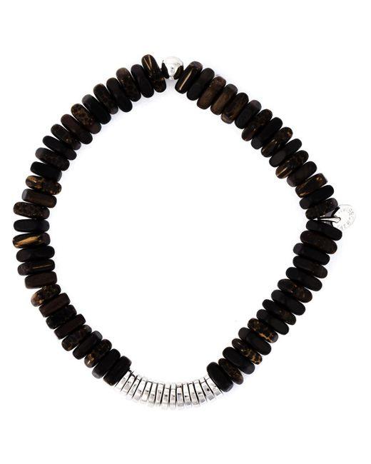 Tateossian | Brown Disk Beaded Bracelet for Men | Lyst