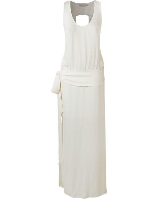 Giuliana Romanno   White Sleeveless Long Dress   Lyst
