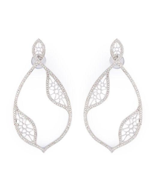 Joelle Jewellery | Metallic Joëlle Jewellery Diamond Teardrop Earrings | Lyst