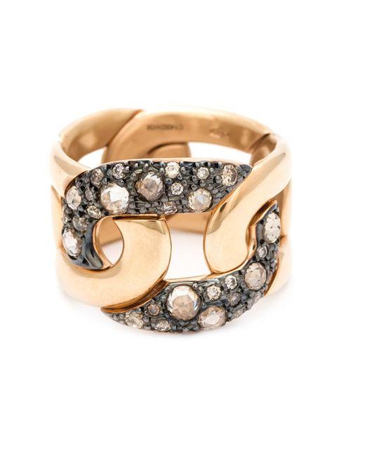 Pomellato | Metallic Diamond Pavé Chain Ring | Lyst