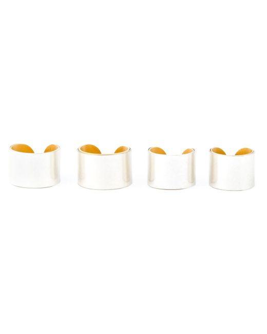 Maison Margiela   Metallic Set Of Four Rings   Lyst