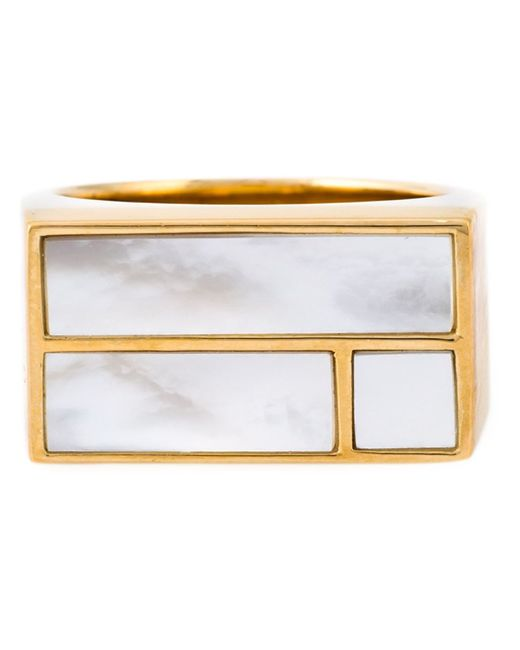 Aurelie Bidermann | Metallic 18kt Gold Plated 'bianca' Ring | Lyst