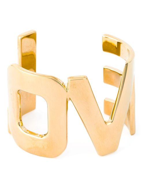 Givenchy | Metallic Love Cut-out Cuff | Lyst