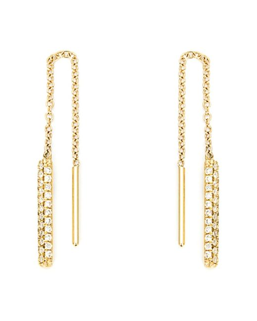 Ileana Makri | Metallic Diamond Drop Chain Earrings | Lyst