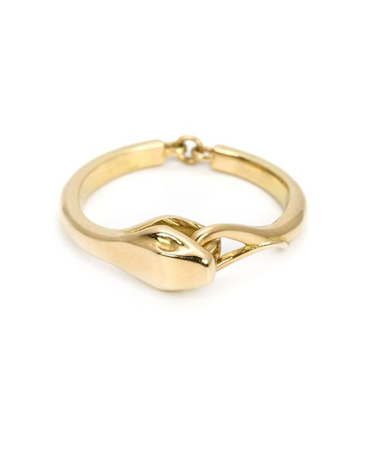 Marc Alary | Metallic 18kt Gold Snake Ring | Lyst