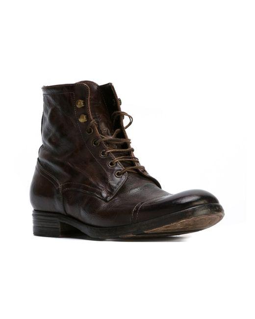 Pete sorensen 'detroit' Combat Boots in Brown for Men | Lyst