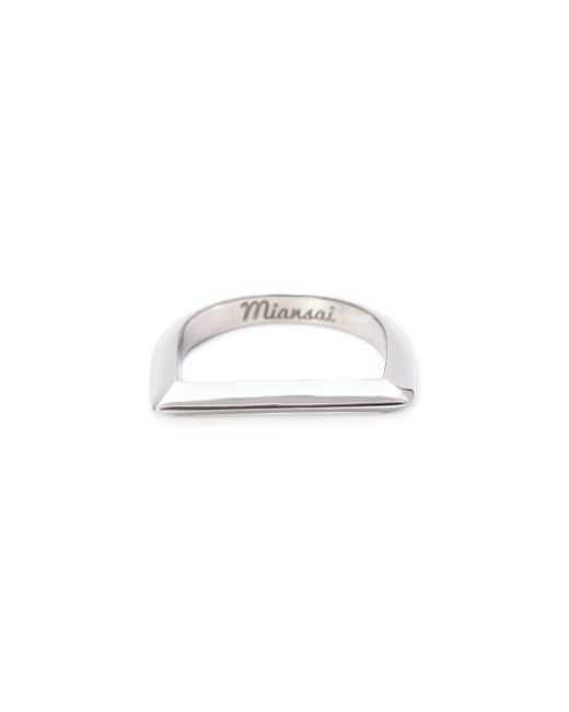 Miansai | Metallic Silver Bar Ring | Lyst