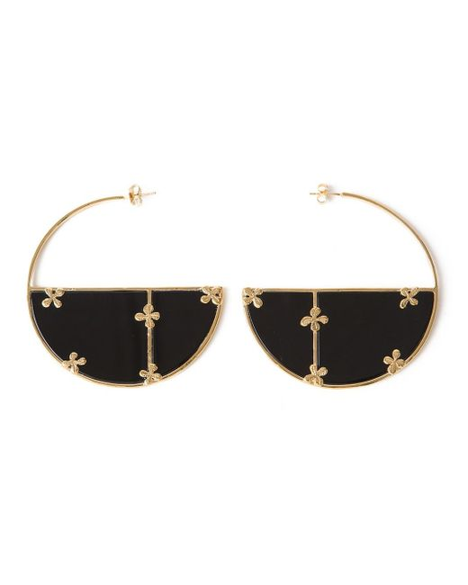 Aurelie Bidermann | Metallic 'bianca' Hoop Earrings | Lyst