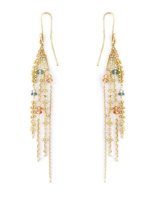 Natasha Collis | Metallic Sapphire Waterfall Earrings | Lyst