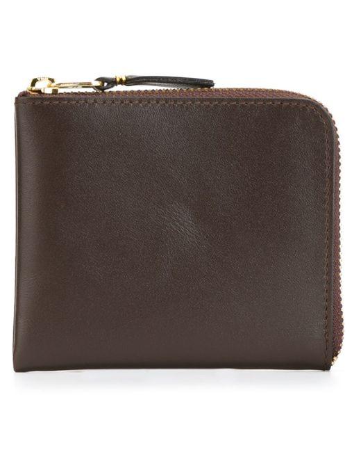 Comme des Garçons | Brown Zip Around Wallet for Men | Lyst