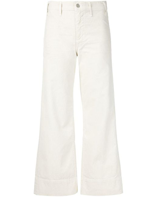 Citizens of Humanity | White Flared Corduroy Trousers | Lyst