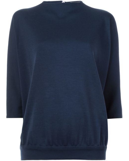 Sybilla Fine Knit Jumper in Blue