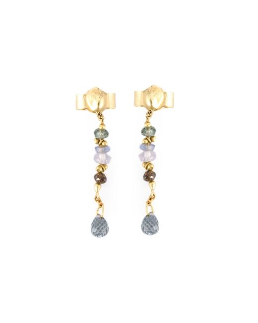 Natasha Collis | Blue Sapphire And Brown Diamond Drop Earrings | Lyst
