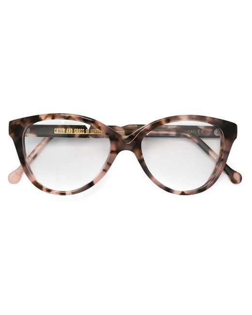 Cutler & Gross | Brown Cat Eye Frame Glasses | Lyst