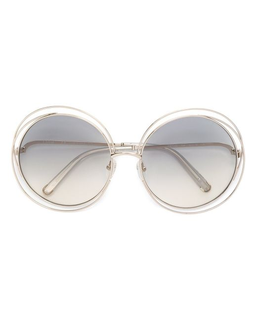 Chloé | Metallic - 'carlina' Sunglasses - Women - Metal (other) - One Size | Lyst