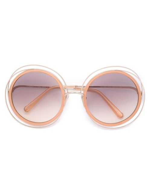 Chloé | Pink - 'carlina' Sunglasses - Women - Acetate/metal (other) - One Size | Lyst