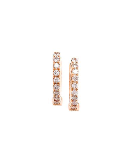 Rosa De La Cruz | Metallic Diamond Hoop Earrings | Lyst