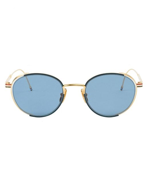 Thom Browne | Blue Round Frame Sunglasses for Men | Lyst