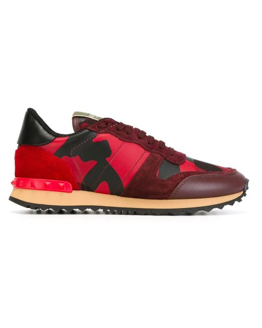 Valentino | Red 'rockrunner' Sneakers | Lyst