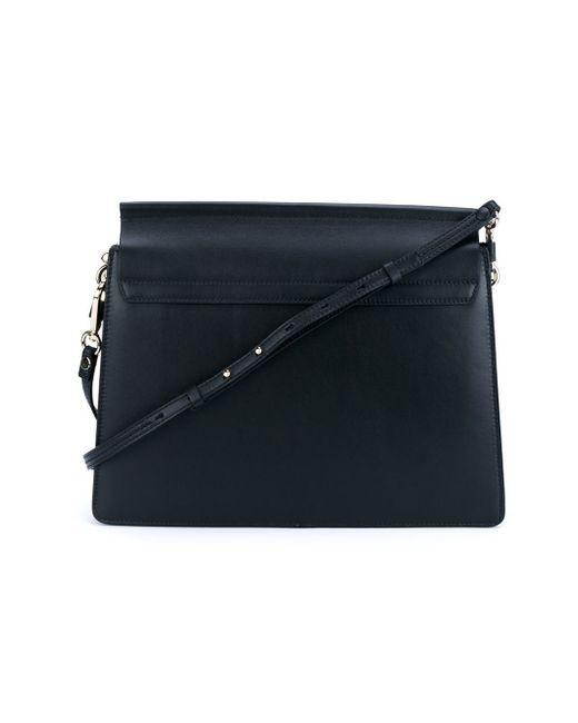 Faye Leopard Print Leather Shoulder Bag In Animal Brown Lyst