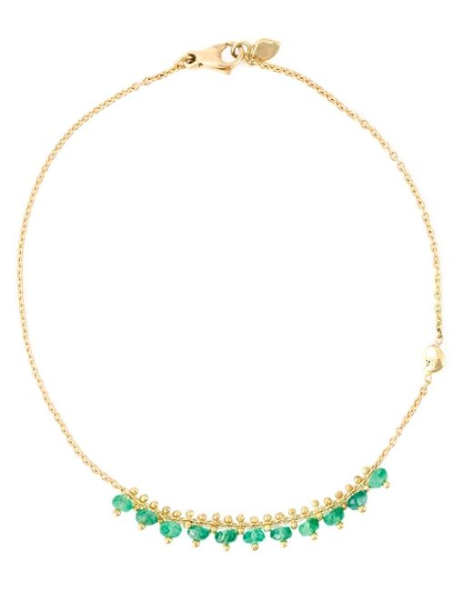Natasha Collis | Green 18kt Yellow Gold 'new Precious' Bracelet | Lyst
