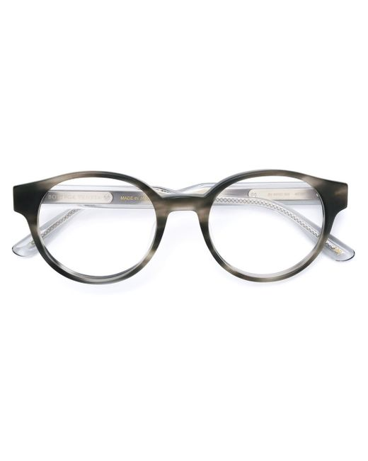 Bottega veneta Round Frame Glasses in Gray Lyst