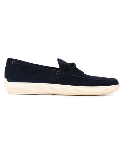 Tod's | Blue Suede Loafer Shoes for Men | Lyst