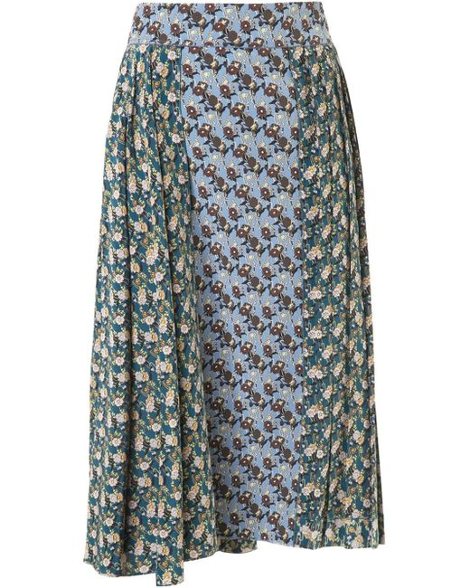 Marni | Green Sequin-embellished Woven Wool-blend Skirt | Lyst