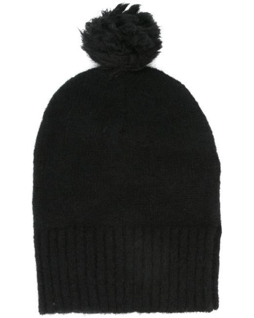 AMI | Black Merino Beanie Hat for Men | Lyst