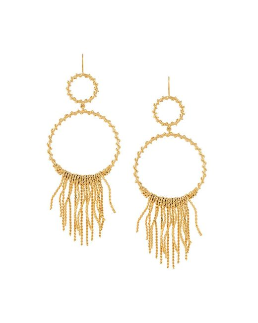 Aurelie Bidermann | Metallic 'marissa' Chandelier Hoop Earrings | Lyst