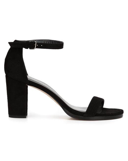 Stuart Weitzman | Black Nearlynude Sandals | Lyst