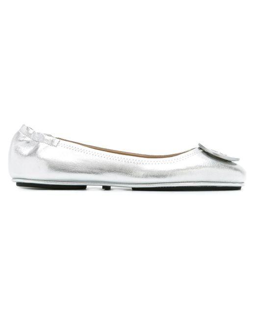 Tory Burch | Metallic Minnie Leather Ballet Flats | Lyst