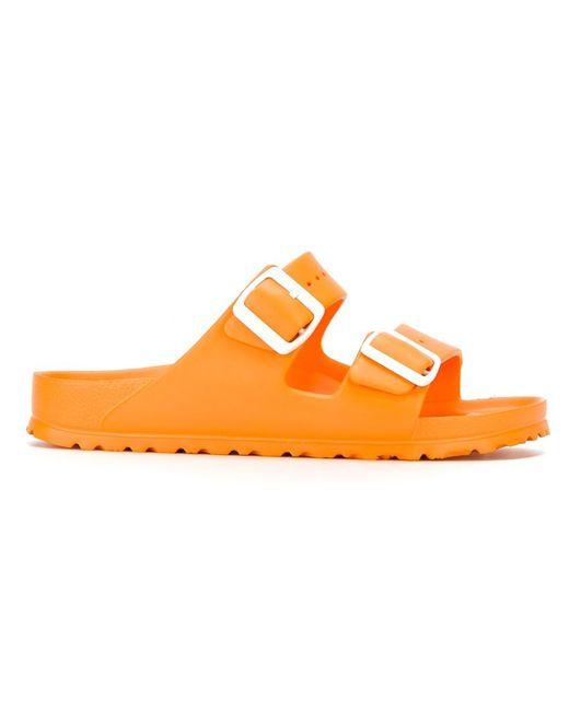 Birkenstock Arizona Rubber Sandals In Orange Yellow