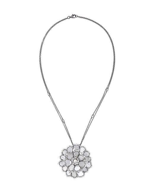 Saqqara | Gray 'flower' Necklace | Lyst