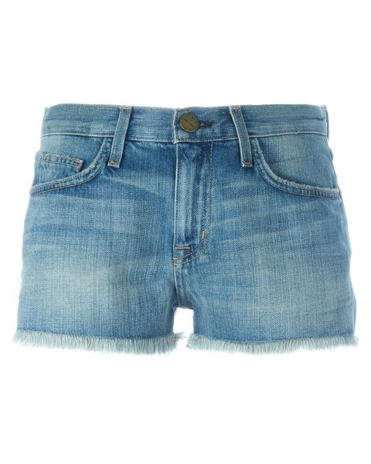 Current/Elliott | Blue The Boyfriend Rolled Denim Shorts | Lyst
