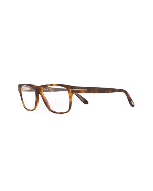 Glasses Frame Tom Ford : Tom ford Square Frame Glasses in Brown for Men Lyst