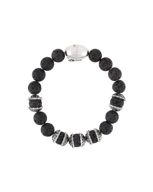 Emanuele Bicocchi | Black Onyx Beaded Bracelet for Men | Lyst